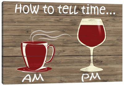 How to Tell Time Canvas Art Print