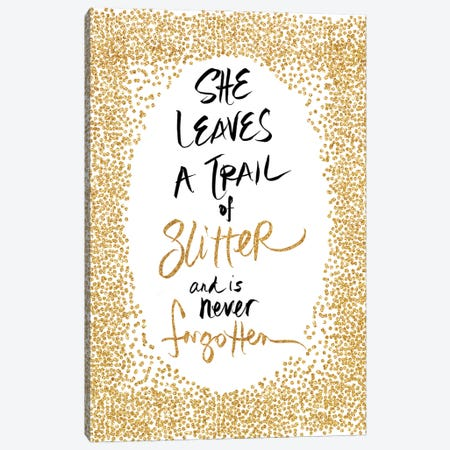 Trail of Glitter Canvas Print #SGS77} by Sd Graphics Studio Canvas Art Print