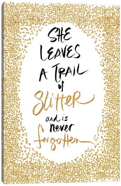 Trail of Glitter Canvas Art Print