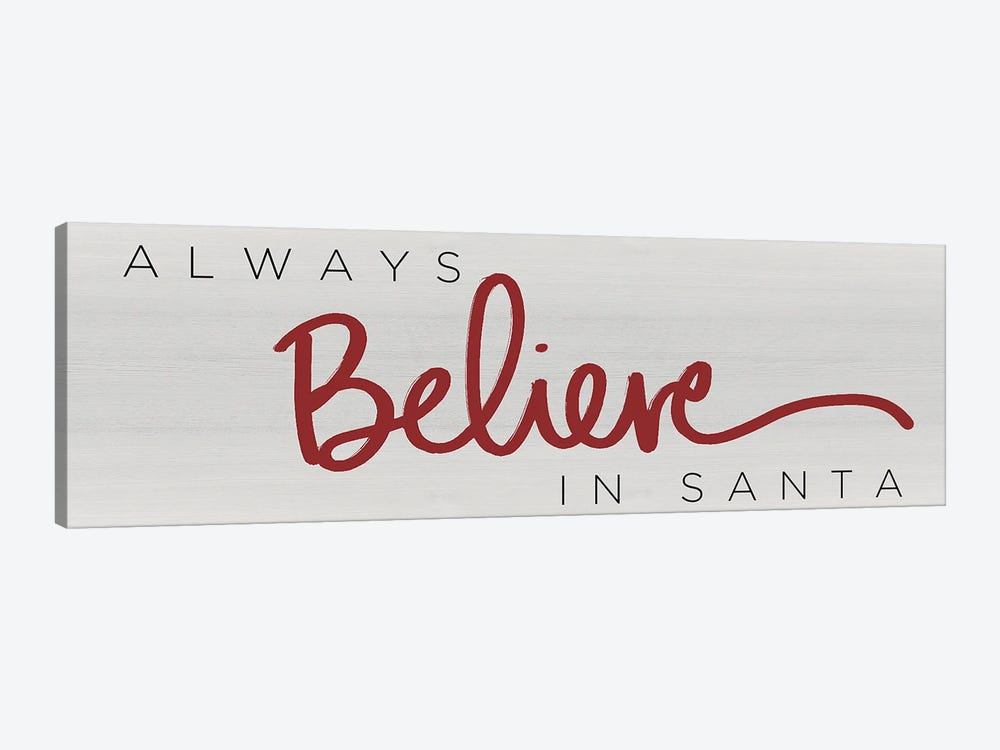 Believe in Santa Red by Sd Graphics Studio 1-piece Canvas Artwork