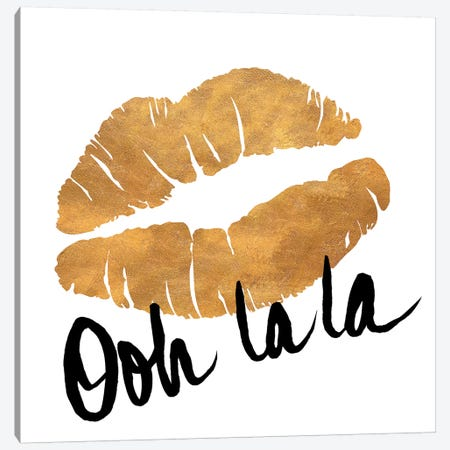 Ooh La La Lips Canvas Print #SGS8} by Sd Graphics Studio Canvas Print