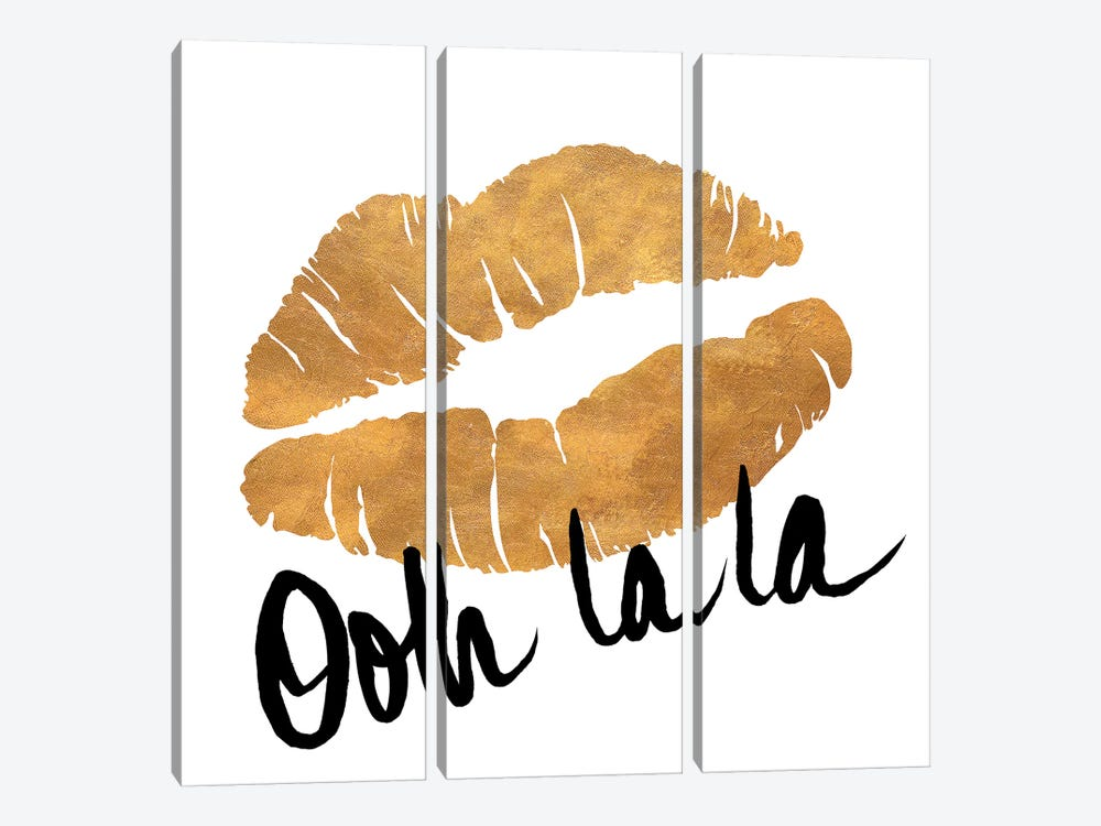 Ooh La La Lips by Sd Graphics Studio 3-piece Canvas Print