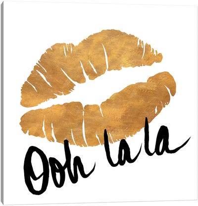 Ooh La La Lips Canvas Art Print