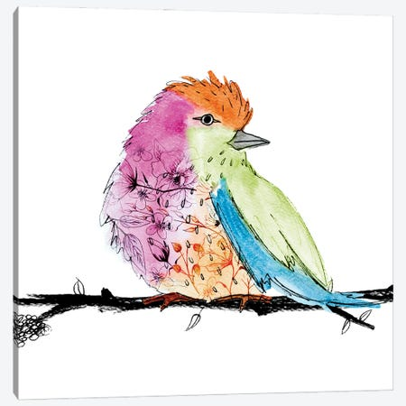 Bright Bird I Canvas Print #SGS91} by Sd Graphics Studio Canvas Artwork