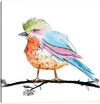 Bright Bird II Canvas Art Print