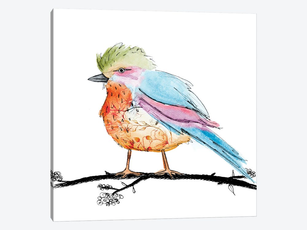 Bright Bird II by Sd Graphics Studio 1-piece Canvas Wall Art