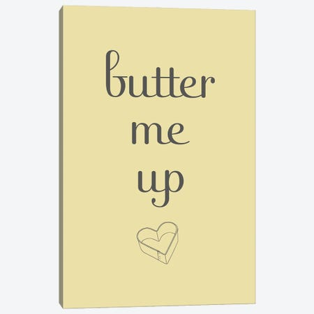 Butter Canvas Print #SGS93} by Sd Graphics Studio Canvas Art