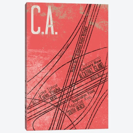 CA Grid Panel Canvas Print #SGS94} by Sd Graphics Studio Art Print