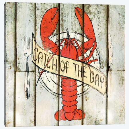 Catch of the Day Square Canvas Print #SGS97} by Sd Graphics Studio Canvas Print