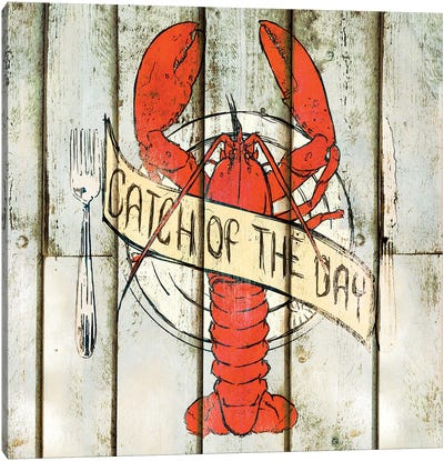 Catch of the Day Square Canvas Art Print