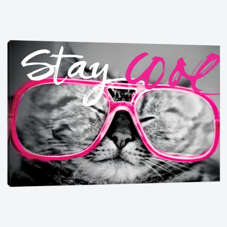 Stay Cool Cat Canvas Print #SGS9} by Sd Graphics Studio Canvas Print
