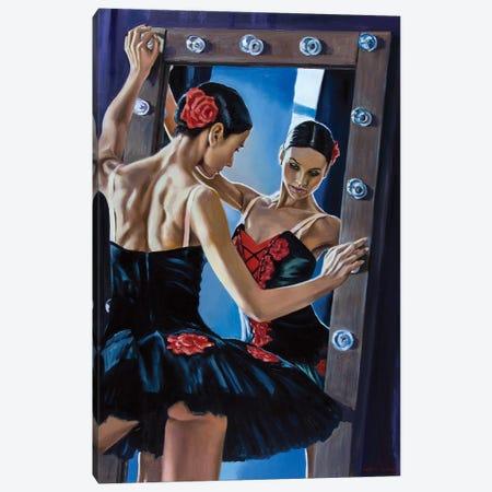 Black Swan In The Mirror Canvas Print #SGT11} by Serghei Ghetiu Canvas Print