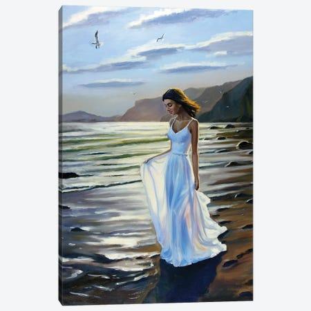 Walking On The Beach V Canvas Print #SGT13} by Serghei Ghetiu Art Print