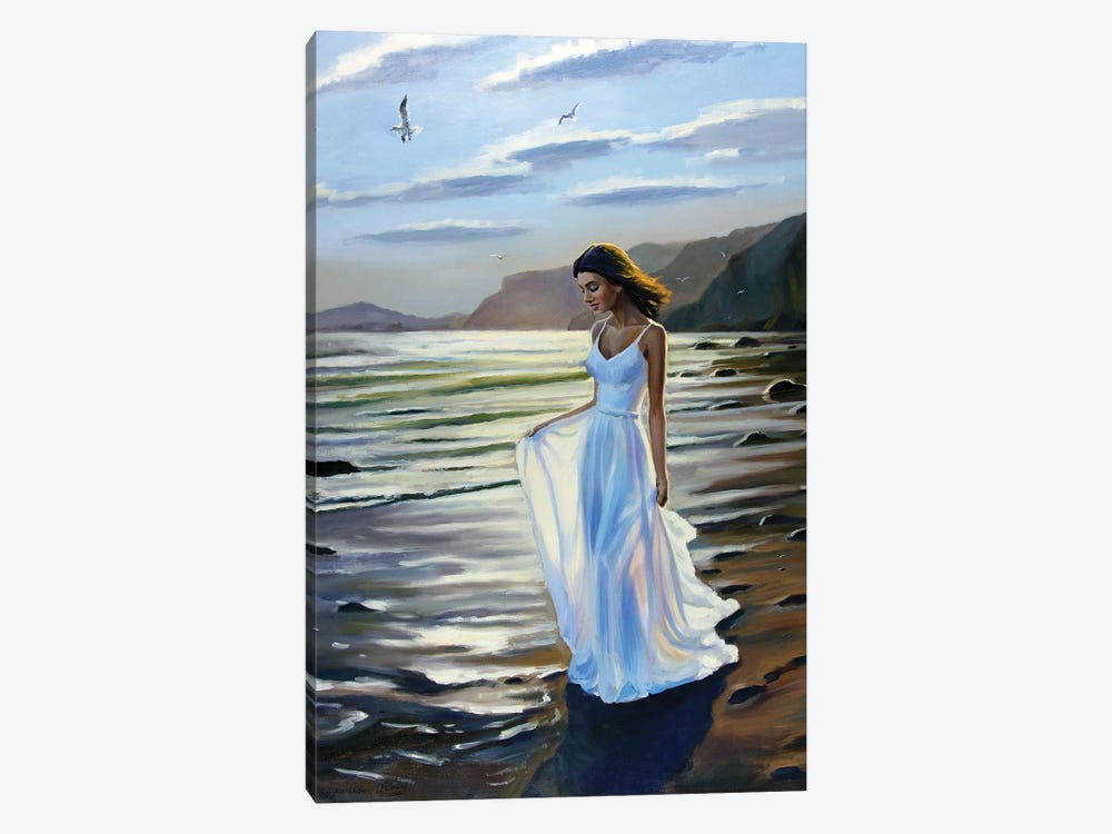 Walking On The Beach V by Serghei Ghetiu 1-piece Canvas Art