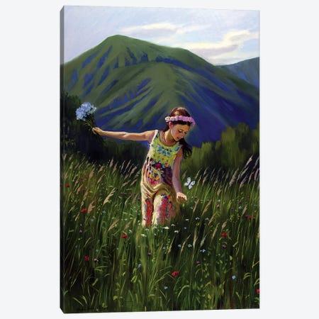 The Beautiful Summertime In Carpathians Canvas Print #SGT14} by Serghei Ghetiu Canvas Artwork