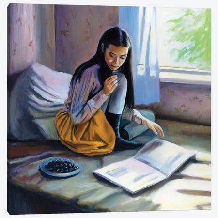 Her Sunday Morning Canvas Print #SGT15} by Serghei Ghetiu Canvas Artwork