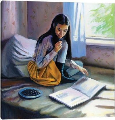 Her Sunday Morning Canvas Art Print