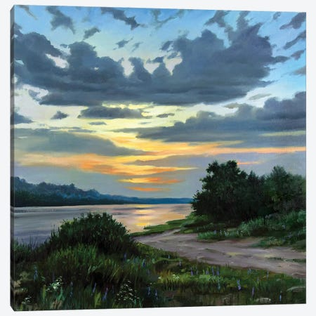 Sunset On The River Canvas Print #SGT16} by Serghei Ghetiu Canvas Artwork