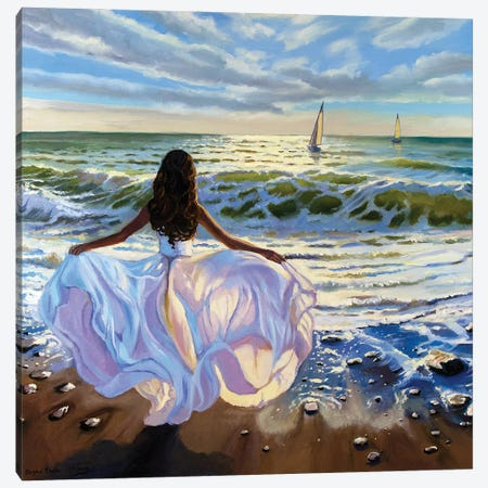 Against The Sea Wind Canvas Print #SGT17} by Serghei Ghetiu Canvas Art