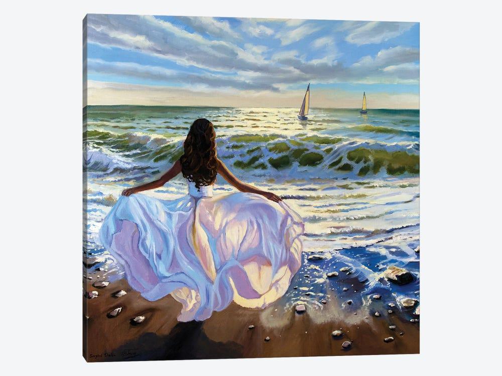 Against The Sea Wind by Serghei Ghetiu 1-piece Canvas Art