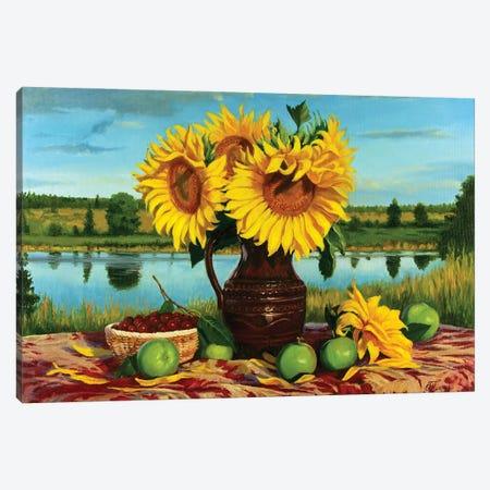 Still Life With Sunflowers Canvas Print #SGT19} by Serghei Ghetiu Canvas Art Print
