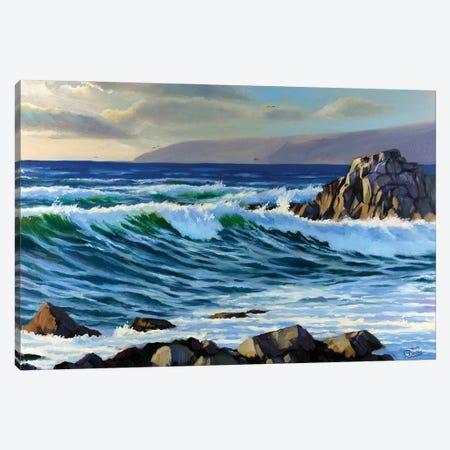 Early Evening On The Sea II Canvas Print #SGT20} by Serghei Ghetiu Canvas Artwork
