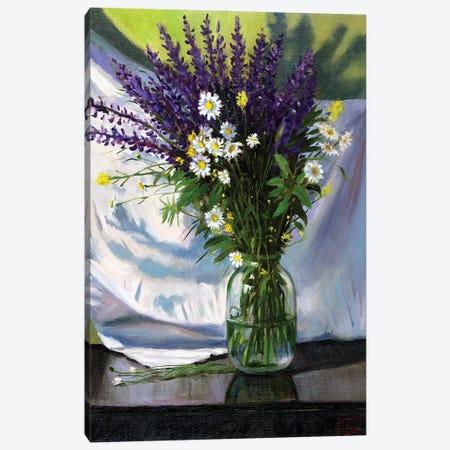 Bouquet Of Field Flowers Canvas Print #SGT23} by Serghei Ghetiu Canvas Artwork