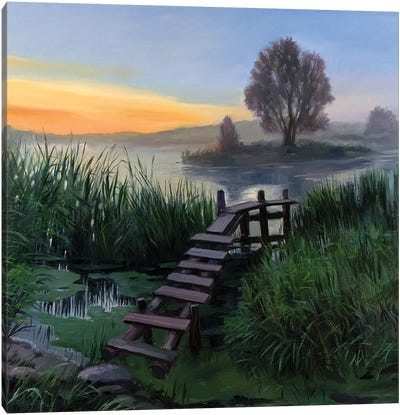 The Calm Summer Evening V Canvas Art Print
