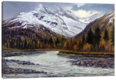 Late Fall In The Mountains Canvas Art Print