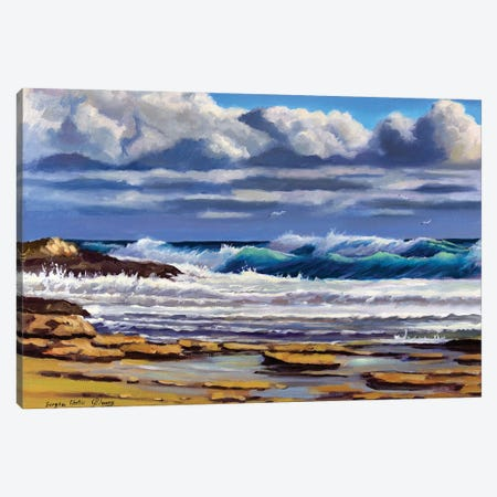 The Seascape With Clouds Canvas Print #SGT32} by Serghei Ghetiu Canvas Print