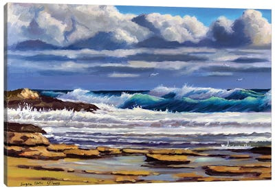 The Seascape With Clouds Canvas Art Print