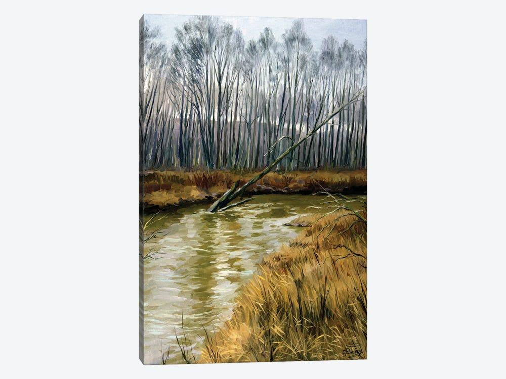 The Moods Of The Nature, Snowless February by Serghei Ghetiu 1-piece Canvas Artwork