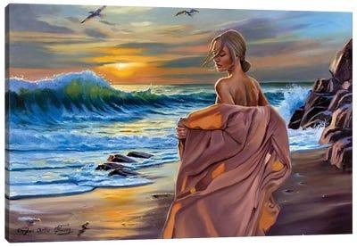 Against The Sea Wind Ii Canvas Art Print