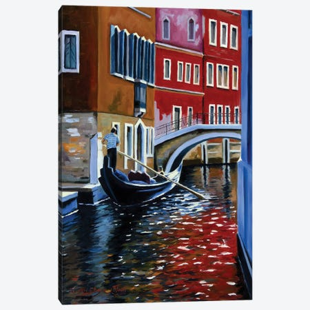 The Busy Day In Venice Canvas Print #SGT48} by Serghei Ghetiu Canvas Artwork