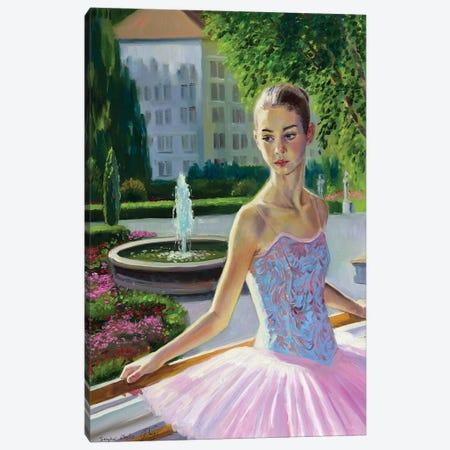 Young Ballerina Portrait Canvas Print #SGT55} by Serghei Ghetiu Canvas Artwork