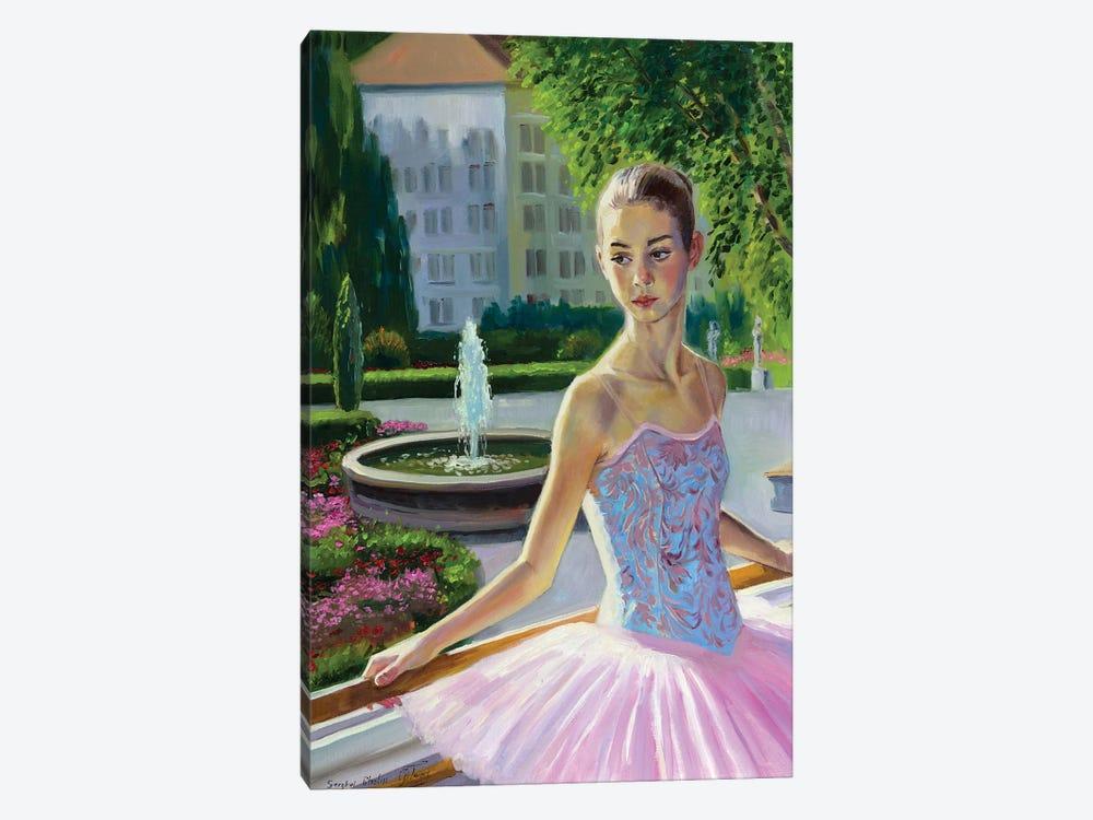 Young Ballerina Portrait by Serghei Ghetiu 1-piece Canvas Wall Art