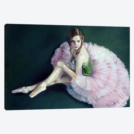 Ballerina: A Break During The Classes Canvas Print #SGT56} by Serghei Ghetiu Canvas Wall Art