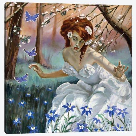 The Fairy Of Spring Canvas Print #SGT5} by Serghei Ghetiu Canvas Art Print