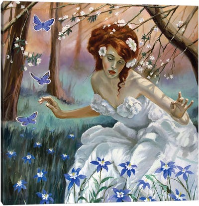 The Fairy Of Spring Canvas Art Print