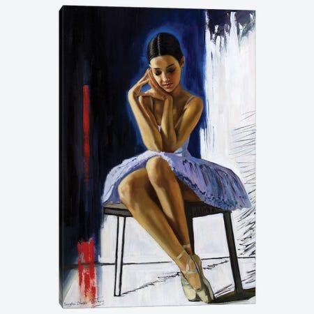 The Young Ballerina Dreams Canvas Print #SGT68} by Serghei Ghetiu Canvas Art