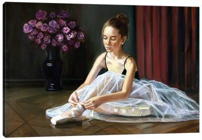 Ballerina, Preparing For Classes Canvas Art Print