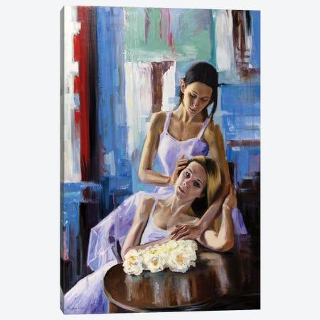 Girlfriends Canvas Print #SGT74} by Serghei Ghetiu Canvas Art