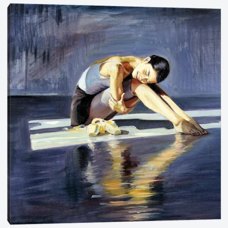The Young Ballerina Dreams II Canvas Print #SGT78} by Serghei Ghetiu Canvas Art Print