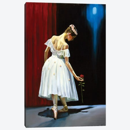 Dancing With A Rose Canvas Print #SGT7} by Serghei Ghetiu Canvas Art Print