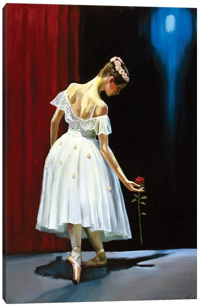 Dancing With A Rose Canvas Art Print