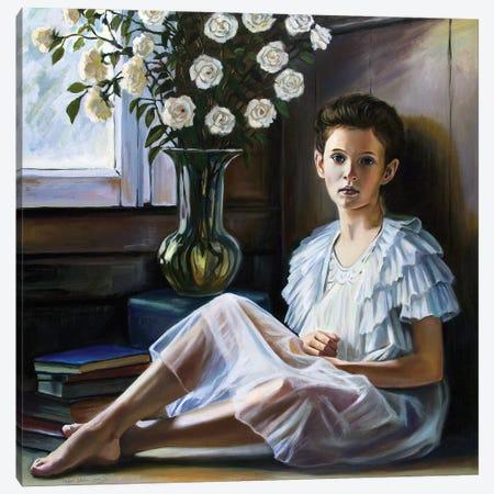The Village Girl Canvas Print #SGT9} by Serghei Ghetiu Canvas Art