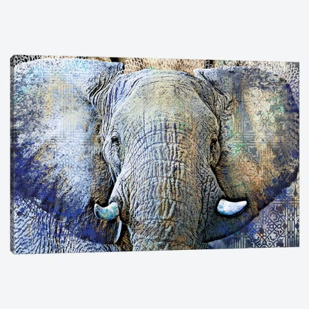 Purple Elephant Canvas Print #SGU1} by Surma & Guillen Canvas Print