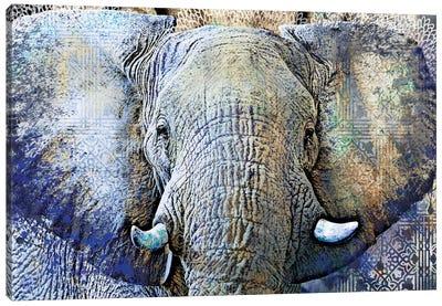 Purple Elephant Canvas Art Print