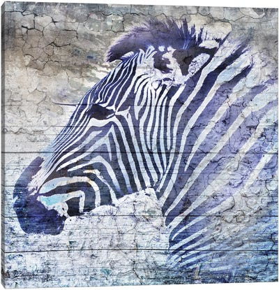 Purple Zebra Canvas Art Print