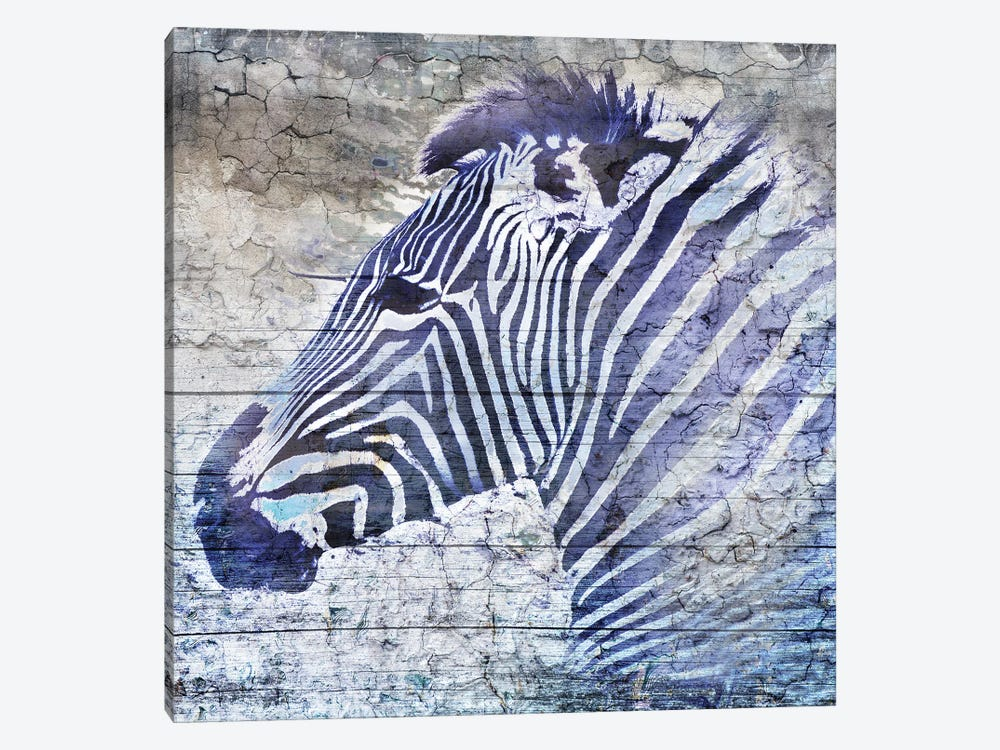 Purple Zebra 1-piece Art Print